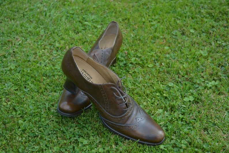 Vintage real Leather shoes Size EU38