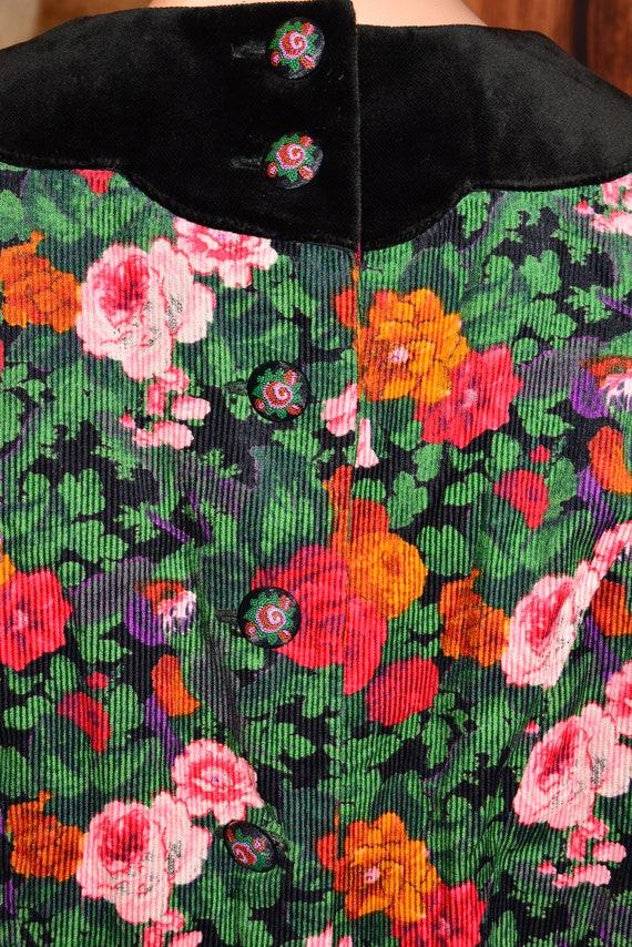 Velvet floral dress Cottagecore dress Cotton dress - image 9