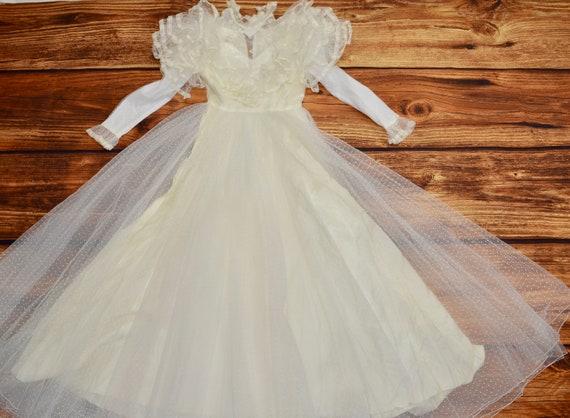 Wedding dress vintage Belle lace dress White cinde