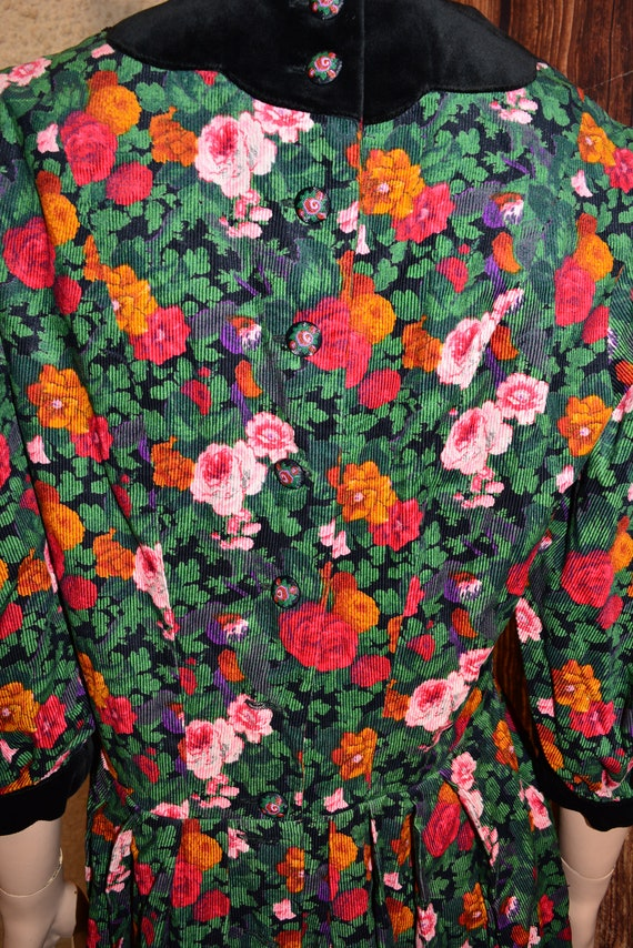 Velvet floral dress Cottagecore dress Cotton dress - image 8