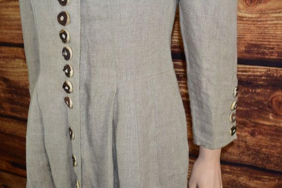 Linen cottagecore dress Long beige dirndl dress - image 5