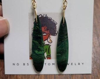 African jade (#2) drop earrings