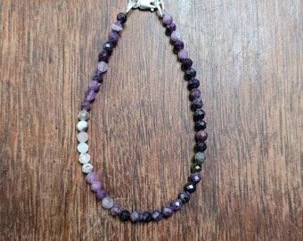 Purple opal bracelet