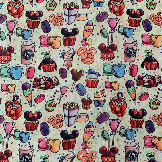 Polycotton Fabric Sweets Candy Treats Kids Craft Material