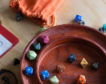 Artisan Dice Tray Handcrafted for Dungeons & Dragons Tabletop RPG Polyhedral Dice Sets Warhammer 40K Pathfinder