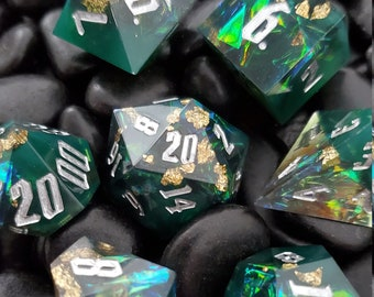 Birthheart Potion Sharp Edge Dnd dice set, d20 Polyhedral dice set for Dungeons and Dragons