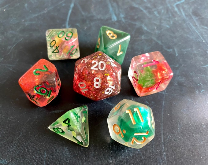 RG3 DNd DIce SEt, D20 POlyhedral dICE SEt For DUngeons And DRagons DIce