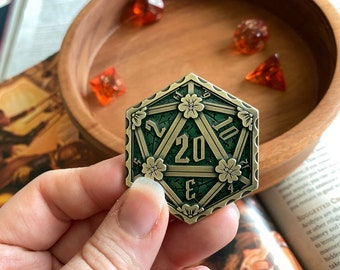 DND Coin 4 TTRPG - Dungeons & Dragons, ROle PLaying GAmes. HEads OR TAils Dungeon D20