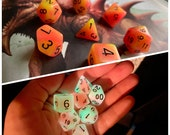 Dnd DIce SEt TARRASQUE glow IN THe DArk Polyhedral DIce SEt DUngeons ANd DRagons DIce SEt PAthfinder DIce SEt
