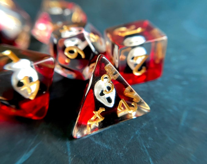 NO FACE Dnd dice set for Dungeons & Dragons Ttrpg, d20 Polyhedral Dice Set - Miyazaki, Studio Ghibli, Spirited Away