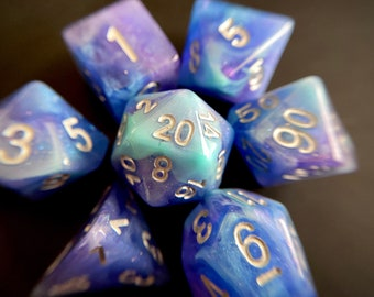 PEGASUS dnd dice set for Dungeons and Dragons TTrpg, d20 Polyhedral Dice Set for tabletop Role Playing GAmes