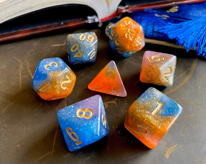 Mystic OASIS Dnd dIce SEt For Dungeons And Dragons TTrpg, GALAXY POlyhedral DIce SEt FOr RPg Tabletop GAming
