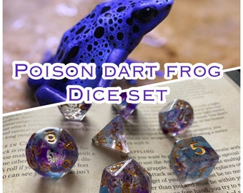 Poison DArt FRog DNd DIce SEt For Dungeons & DRagons RPg TTrpg