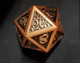 Copper Scale DNd DIce set, Metal dice , Polyhedral dice set for Dungeons and Dragons RPG, ttrpg -- solid metal & heavy!