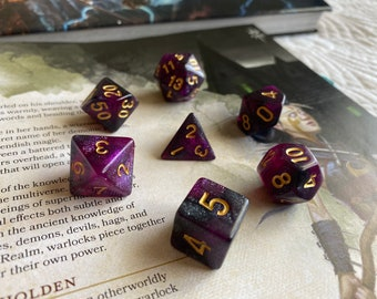 """Dnd DIce SEt """" WArlocks PAct"""" D&D dice set, RPG Dice Set,  POlyhedral DIce SEt FOr dUNgeons ANd DRagons"""