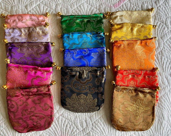 Brocade Dnd DICE BAG POuch Pocket for DUngeons & DRagons RPg TTrpg dice Set COllection - Gift jewelry coin bag