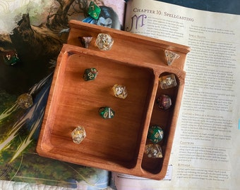 Ipad/Phone Wood DnD DIce Tray For Dungeons And Dragons RPG - Handcrafted From Solid Hardwood for Phone or IPad, D&D Beyond