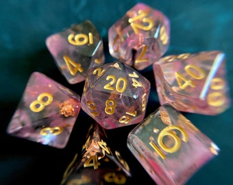 Emperors Robes Dnd DIce Set for Dungeons and Dragons, d20 Polyhedral Dice set for Tabletop Role Playing Games