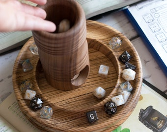 SOLID WOOD Dice Tower for Dungeons & Dragons, Warhammer 40K, Artisan Crafted from Sustainable Wood