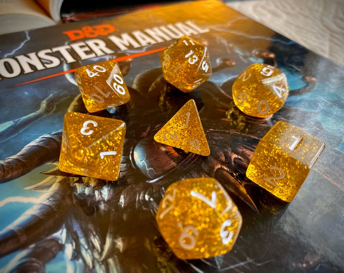 Thunderwave DNd DIce SEt, POLyhedRal DIce SEt FOr Dungeons & DRagons, RPg DIce