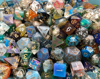 Pound of DIce, Loose Dice, Dice by Weight, Dnd Dice d20 POlyhedral DIce