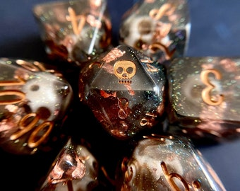 Davey Jones Dnd dice set, d20 Polyhedral dice set - Dungeons and Dragons dice- Pirate Dice PRE- ORDER