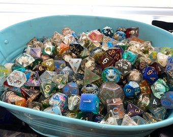 Pound of DIce, Loose Dice, Dice by Weight, Dnd Dice d20 POlyhedral DIce SEt FOr DUngeons &Dragons, CRitical ROle
