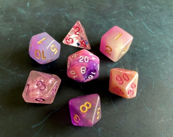 PP1 Mixed DNd Dice set FOr Dungeons and Dragons RPg POlyhedral DIce