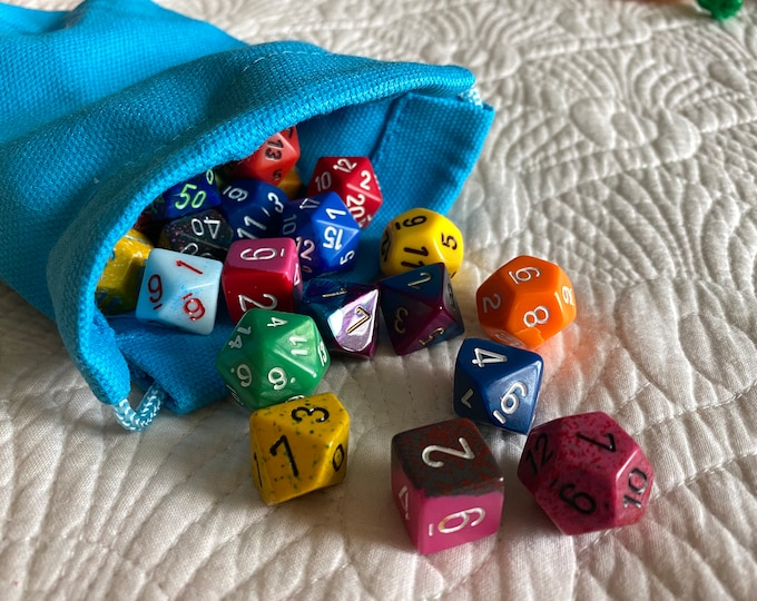 Dnd DICE Bag Pouch Sack -  BAg OF HOlding For YOur DIce SEts, DUngeons & DRagons TTRpg  RPG GIfts
