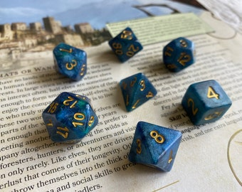 """Polyhedral DIce SEt """"ILLUSION"""" for DNd DIce SEt, DUngeons & DRagons DIce, GaLaxy DIce"""