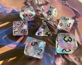 DND Dice Set ARCANE MAGIC Polyhedral DIce SEt dungeons ANd DRagons DIce SEt GLitter DIce