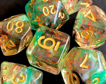 DEATH TOUCH DNd DIce Set for Dungeons & Dragons TTRPG, Pathfinder RPg, Dungeon Masters