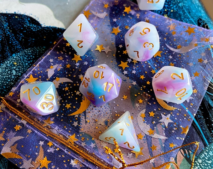PASTEL PRINCESS DNd DIce SEt FOr DUngeons ANd DRagons RPg, POlyhedral DIce SEt FOr TAbletop GAming Ttrpg