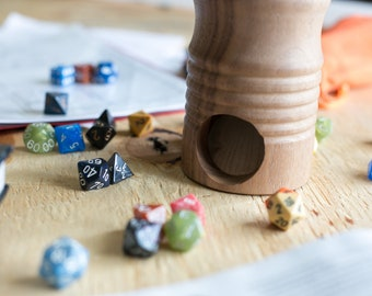 Wood Dice Tower   Dungeon & Dragons   Warhammer 40K   Handmade Dice Tower