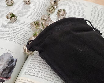 Dnd Velvet DICE Bag Pouch Sack -  BAg OF HOlding For YOur DIce SEts, DUngeons & DRagons TTRpg  RPG GIfts