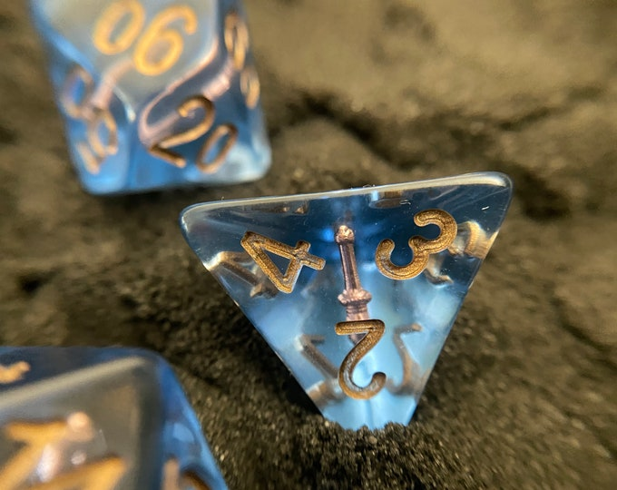 WAND Dnd Dice Set, Polyhedral dice 4 Dungeons and Dragons TTRPG RPG Role PLaying Tabletop Games D20