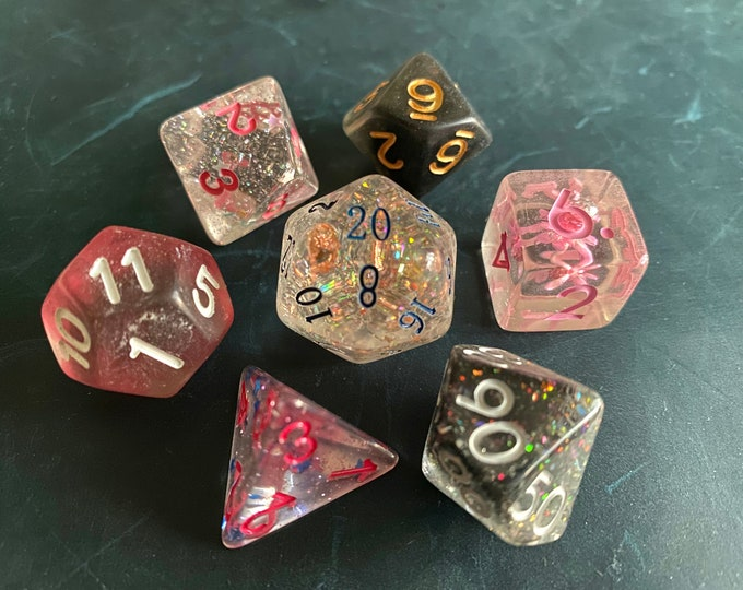 BP4 DNd DIce SEt, D20 POlyhedral dICE SEt For DUngeons And DRagons DIce