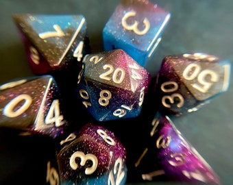 North Star Dnd dice set, d20 Polyhedral dice set - Dungeons and Dragons dice- Pirate Dice PRE- ORDER