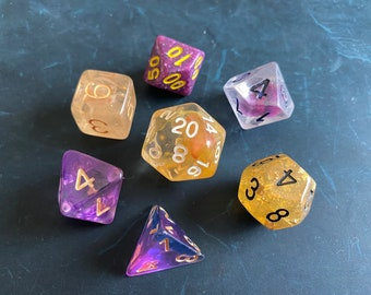 A2 Mixed DNd Dice set FOr Dungeons and Dragons RPg POlyhedral DIce