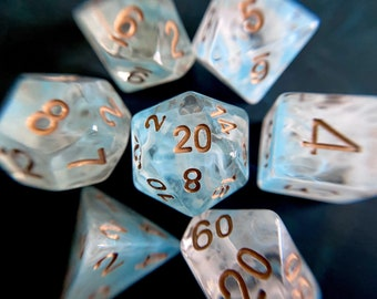SPECTER dnd dice set for Dungeons and Dragons, Polyhedral dice set for d20 tabletop role playing games