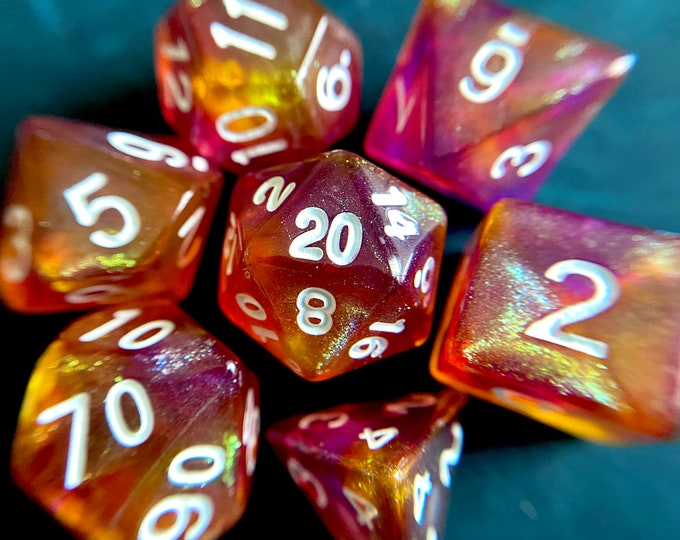 NECTAR Dnd Dice Set for Dungeons and Dragons TTRPG, d20 Polyhedral Dice set for Tabletop Role Playing Games