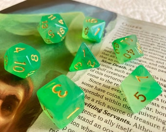 GELATINOUS CUBE DnD Dice Set | RPG Dice Set | D&D Dice Set For Dungeons and Dragons