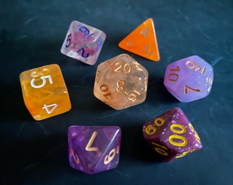 OP1 DNd Dice set FOr Dungeons and Dragons dice , RPg POlyhedral DIce SEt, D20 DIce