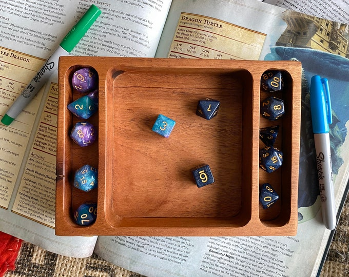 Handmade SWITCH dnd dice tray for Dungeons and Dragons Rpg dice sets, Warhammer 40K, Magic the Gathering,  Ttrpg - SOLID hardwood