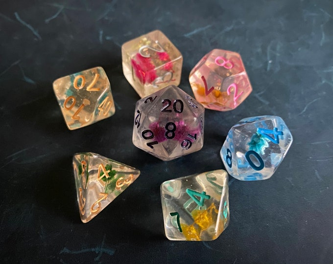 F1 Mixed DNd Dice set FOr Dungeons and Dragons RPg POlyhedral DIce