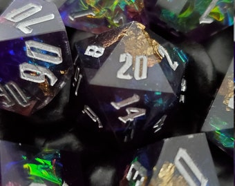 Nightshade Potion Sharp Edge Dnd dice set, d20 Polyhedral dice set for Dungeons and Dragons