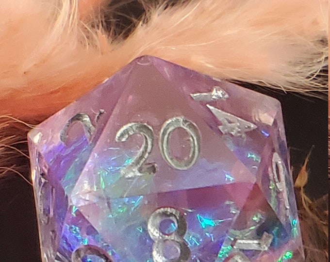 Unicorn Potion Sharp Edge Dnd dice set, d20 Polyhedral dice set for Dungeons and Dragons - FLAWED numbers