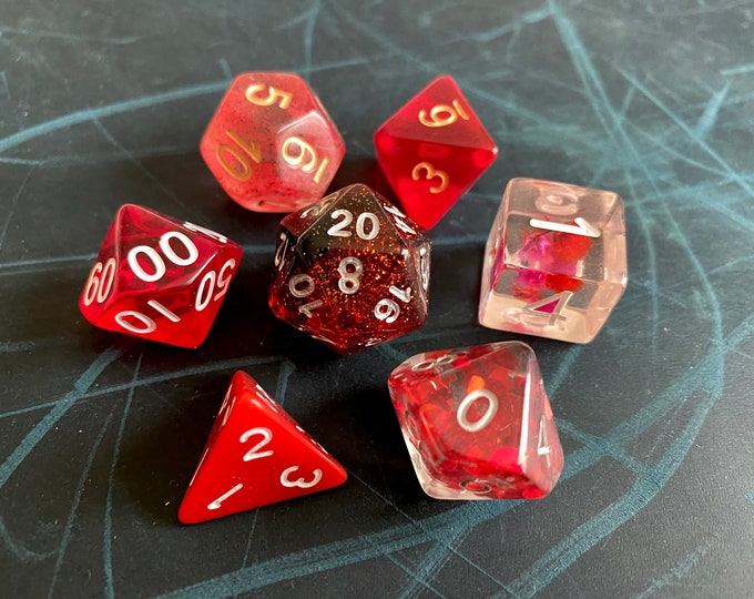 RR DNd DIce SEt, D20 POlyhedral dICE SEt For DUngeons And DRagons DIce