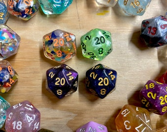 D20 Mystery Dice, dnd dice set, dice grab bag, random d20 dice for Dungeons and Dragons dice, Tabletop RPG