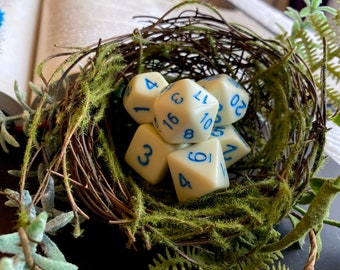 """Dnd DIce SEt """" Egg SHell - POlyhedral DIce SEt, D&D Dice Set FOr DUngeons and DRagons, PAthfinder"""